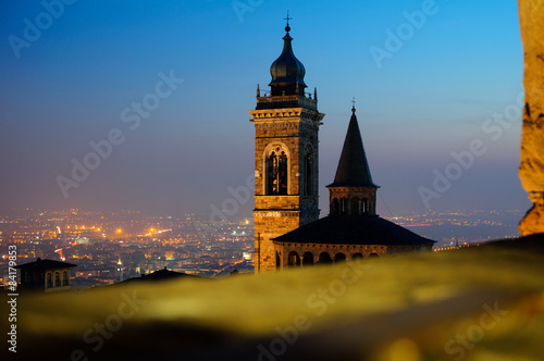Foto op Plexiglas Artistiek mon. Bergamo città alta, bergamo vecchia, campanone bergamo