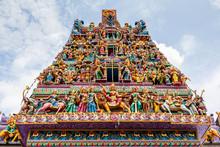 Hindu Temple In Little India, Singapore