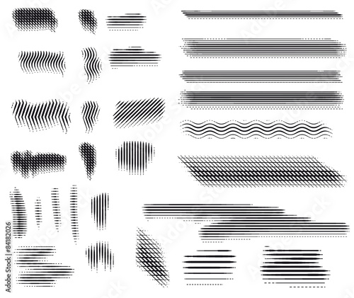 Fotografie, Obraz  Vector. Engraving brushes set.