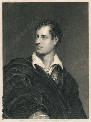 Cuadros en Lienzo Lord Byron. Engraving on steel, 1856.