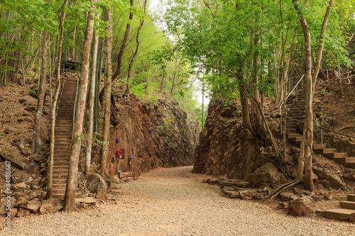 Valokuvatapetti Hellfire pass, World War 2 memorial,  Kanchanaburi, Thailand