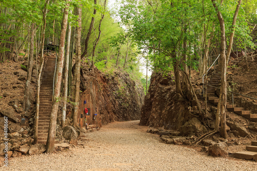 Photo  Hellfire pass, World War 2 memorial,  Kanchanaburi, Thailand