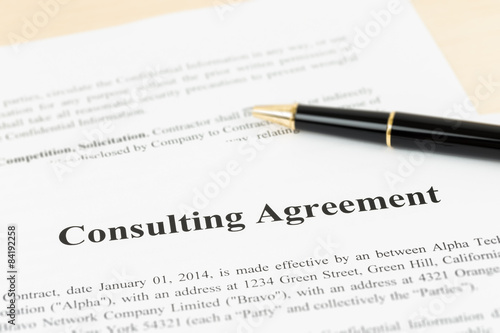 Consulting Agreement Documents And Information Are Mock Up Kaufen