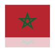 reflection flag morocco