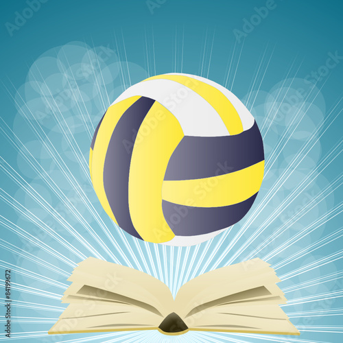 książka i piłka siatkowa