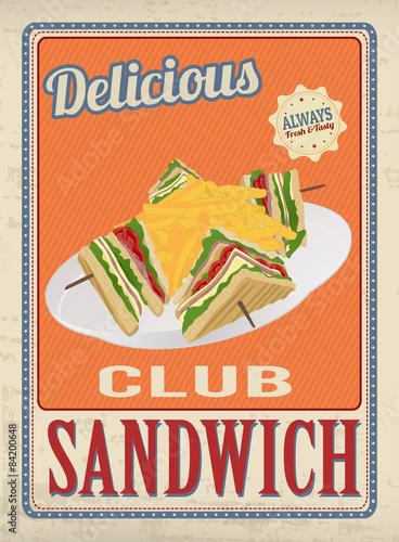 plakat-retro-club-sandwich