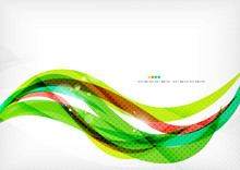 Green And Red Line Swirls