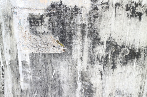 Old concrete wall in construction