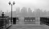Fototapeta Nowy York - New York City skyline on a rainy day