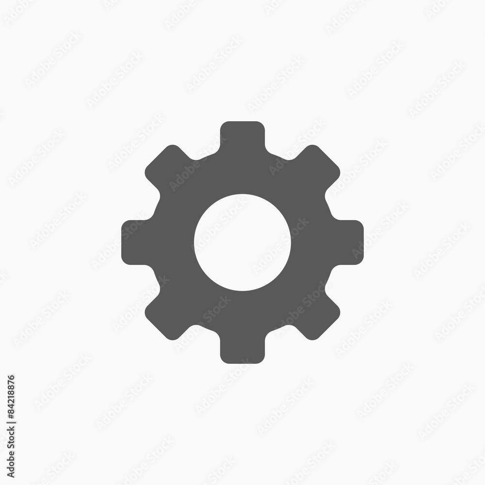 Fototapeta gear icon