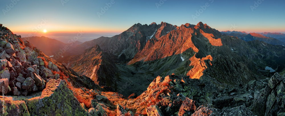Fototapety, obrazy: Panorama mountain autumn landscape