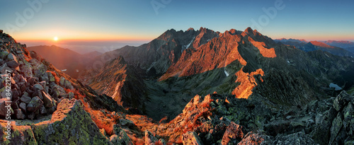 Foto op Canvas Natuur Panorama mountain autumn landscape