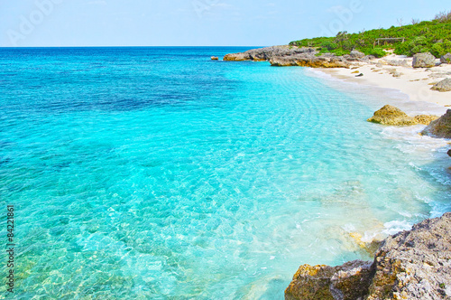 Poster Turquoise 沖縄 来間島の海岸