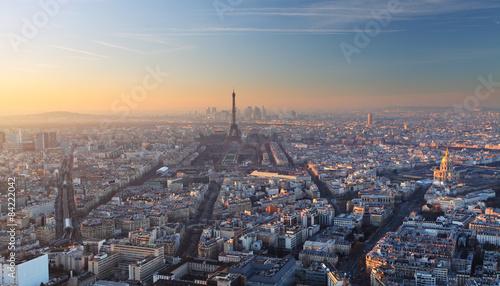 Papiers peints Paris Aerial view of Paris at sunset