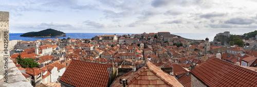 Panorámica tejados de Dubrovnik Poster