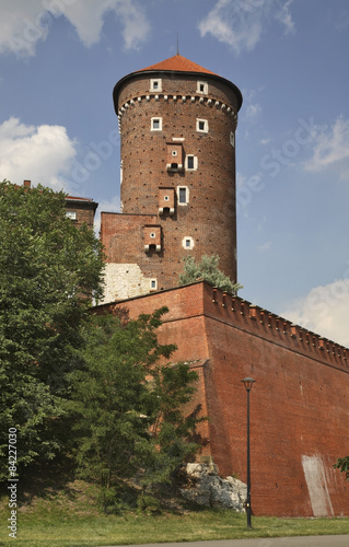 Sandomierz  tower in Wawel in Krakow. Poland #84227030