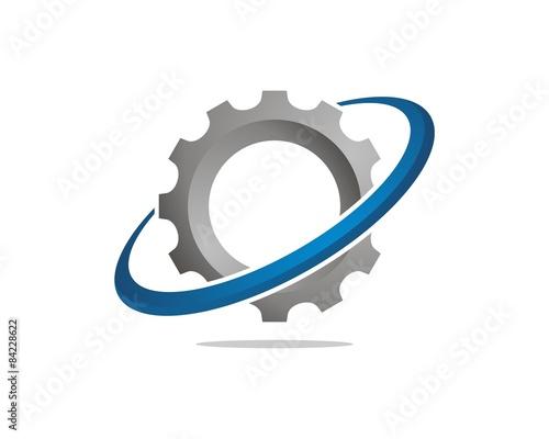 Valokuvatapetti orbit  gear logo template