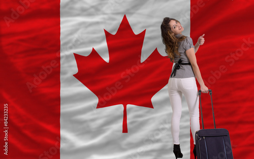 Spoed Foto op Canvas Canada tourist travel to canada