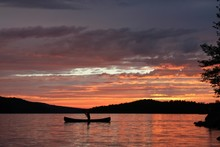 Sunset On Grand Lake In Algonquin Provincial Park