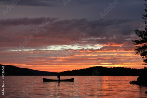 Sunset on Grand Lake in Algonquin Provincial Park Canvas Print
