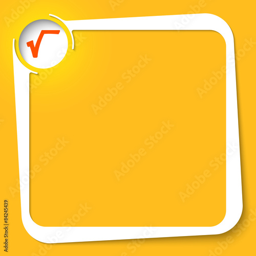 Vector White Box For Your Text And Square Root Symbol Buy This