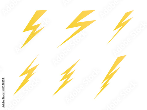 Photo lighting, electric charge icon vector symbol illustration