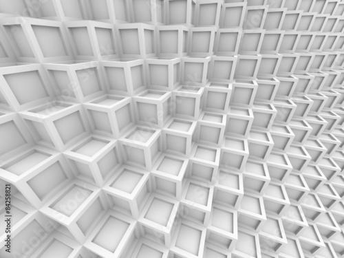 Fototapeta abstrakcyjne białe sześciokąty 3d