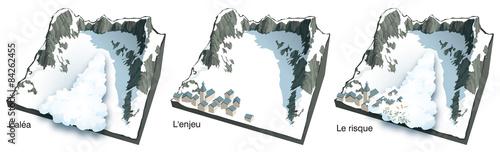 Slika na platnu Avalanche - Aléa, enjeux et risque