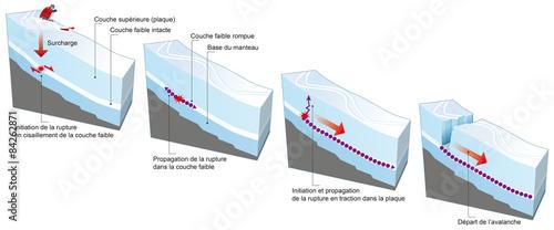 Avalanche - Rupture du manteau neigeux Canvas Print
