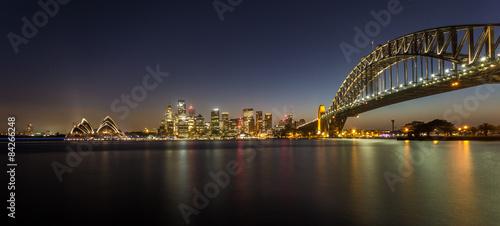 Keuken foto achterwand Bruggen Skyline von Sydney bei Nacht