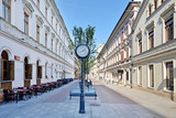 Fototapeta Miasto - Woonerf w Łodzi  przy 6 Sierpnia