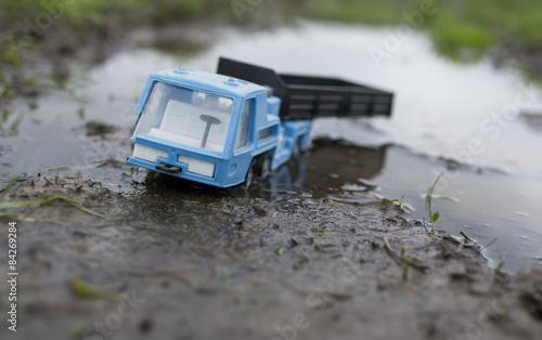 Fotografie, Obraz  Truck Stuck