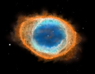Galaxy : Ring Nebula M57, illustration