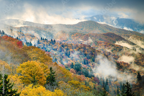 Great Smoky Mountains National Park - Newfound Gap Poster