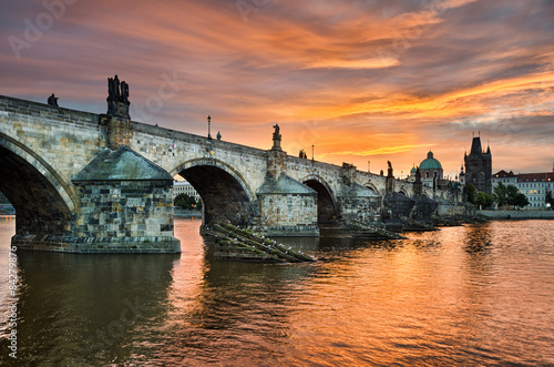 Printed kitchen splashbacks Prague Charles Bridge in Prague, Czech Republic