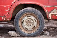Close-up Photo Of Rusty Car Wheel