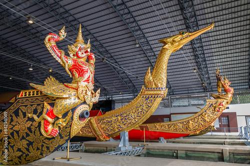 Thai Patterns on a Thai royal barge Canvas Print