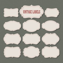 Vector Set Vintage Labels And ...