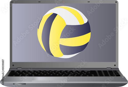 laptop i siatkówka
