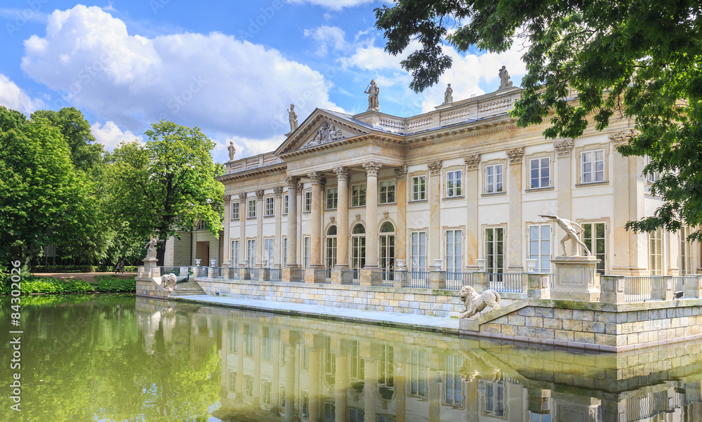 Fototapety, obrazy: Royal Lazienki Park in Warsaw - Palace on the Water