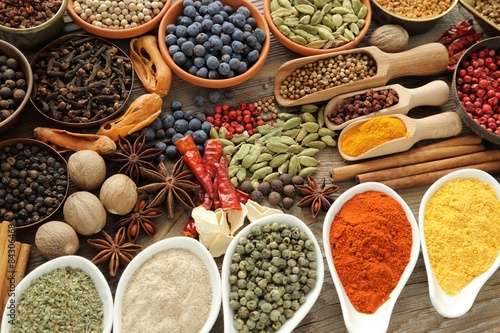 Fototapety, obrazy: Spices and herbs.