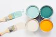 canvas print picture - Trendfarben mit Malerpinsel