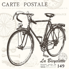 Fototapeta Do pokoju chłopca Bicycle postcard
