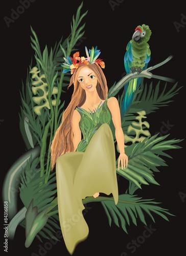 Wall Murals Mermaid beautiful girl