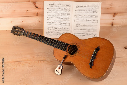 Fotografering  MUSICAL INSTRUMENTS, TWO GUITARS