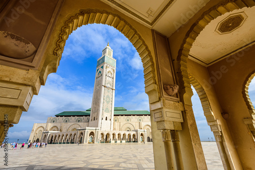 Photo Stands Morocco Mosque in Casablanca