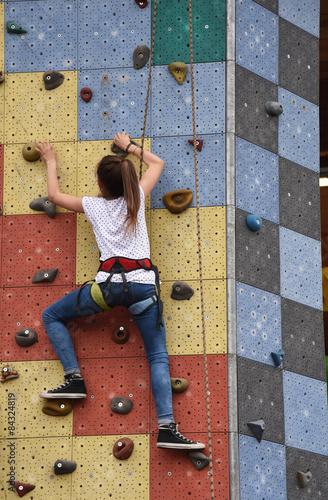Foto op Canvas Alpinisme arrampicata palestra bambini