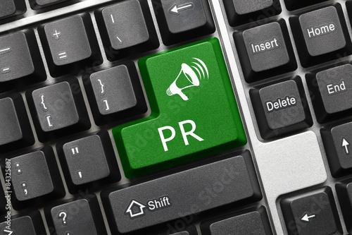 Fotografía  Teclado conceptual - PR (tecla verde)