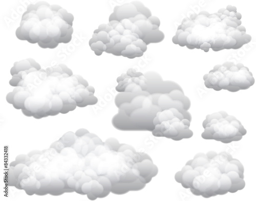 Fotografia  Vector Clouds