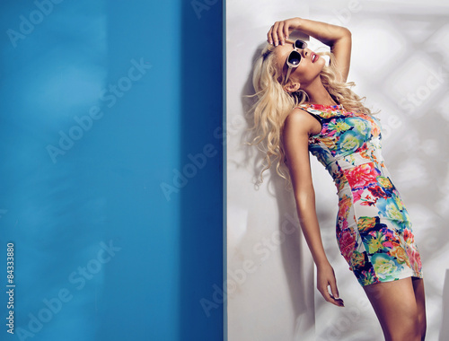 Printed kitchen splashbacks Artist KB Hot woman on memorable vacation
